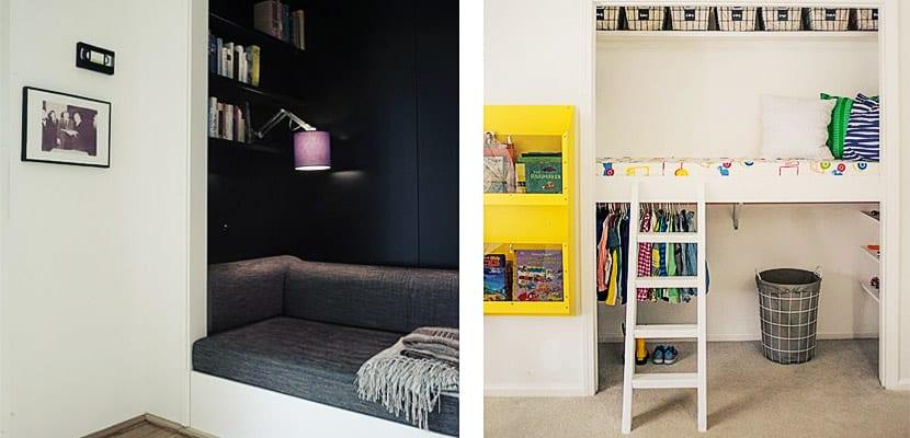 Convierte tu armario en un rinc n de lectura - Armarios de rincon ...