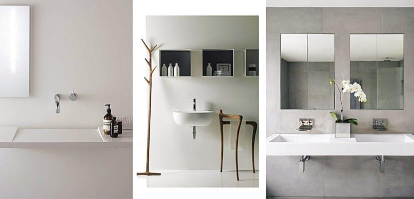 Aseos de estilo minimalista