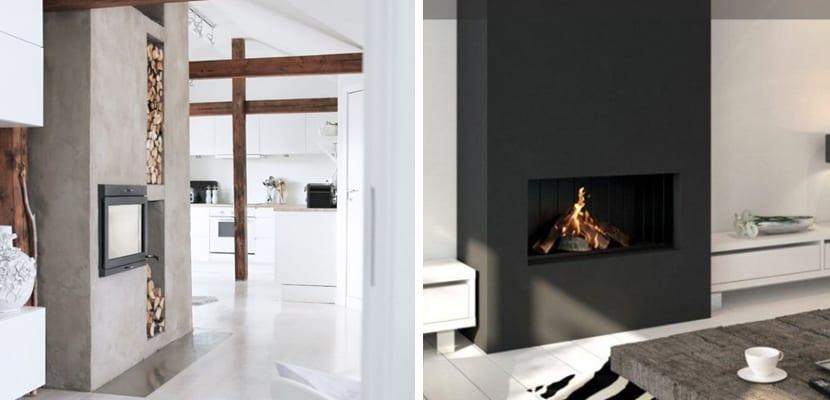 Chimeneas en estilo minimalista