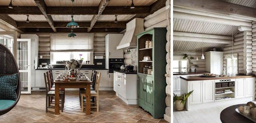 Cocinas r sticas con revestimiento de madera - Cocinas rusticas de madera ...