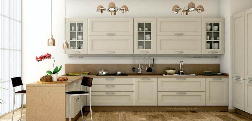 Escoger los colores en cocinas pequeñas
