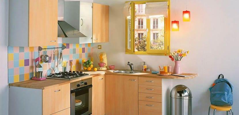 Colores en cocinas pequeñas