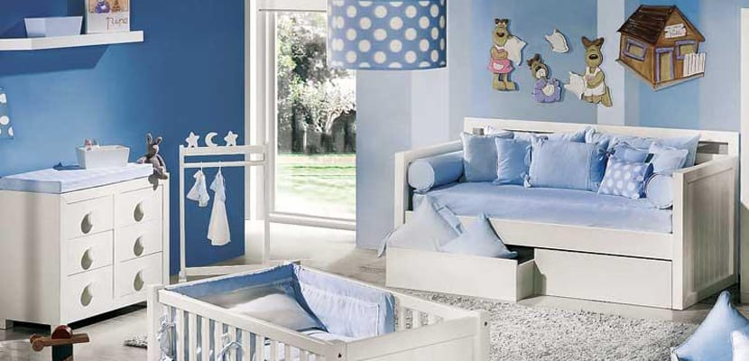 Cuartos infantiles en azul Serenity