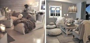 Decoración en tonos grises