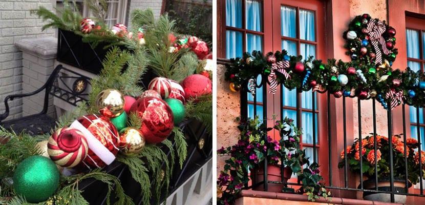 Balcón en Navidad