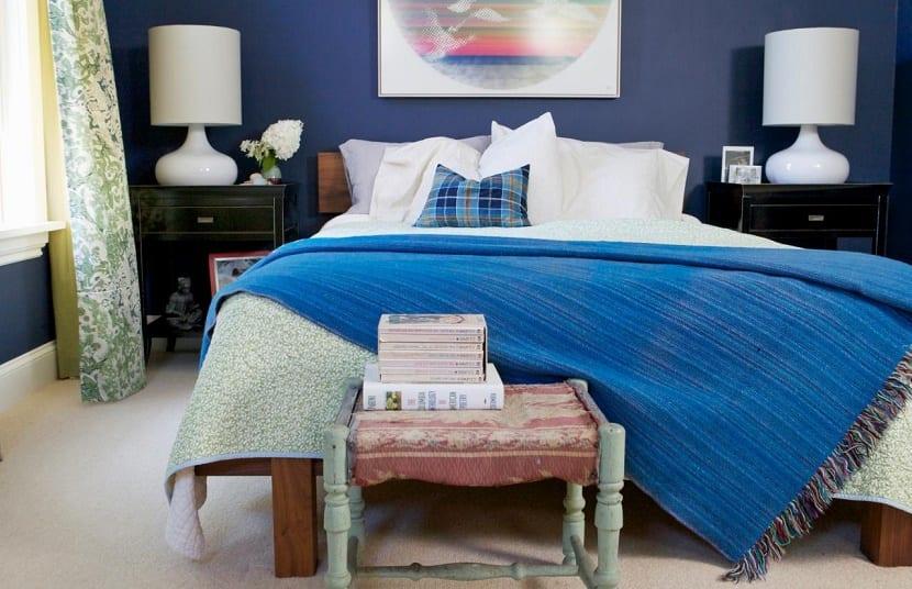 dormitorio pequeno azul