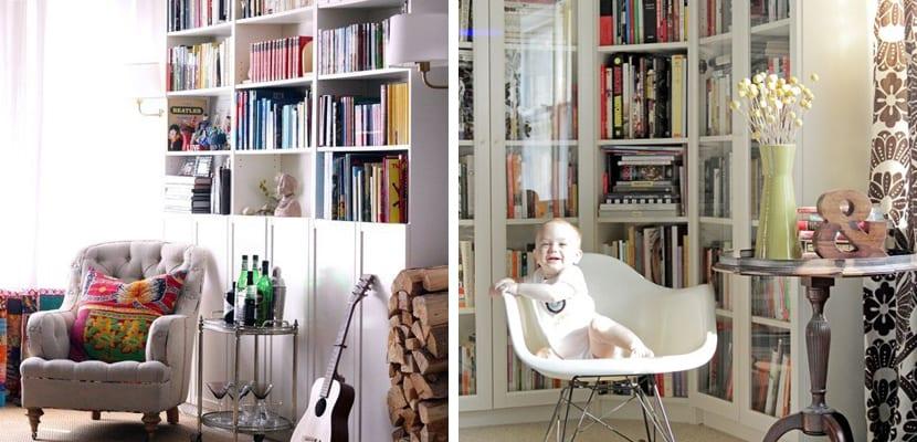 Ideas de almacenaje con las estanter as billy de ikea - Libreria billy con puertas ...