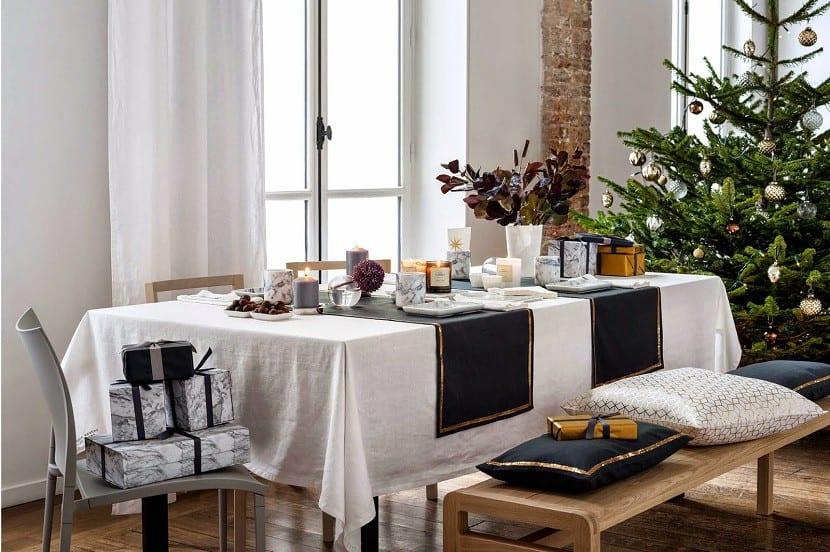 mesa salón navidad