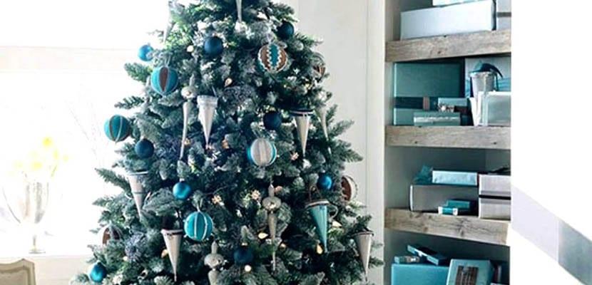 Navidad en tonos azules