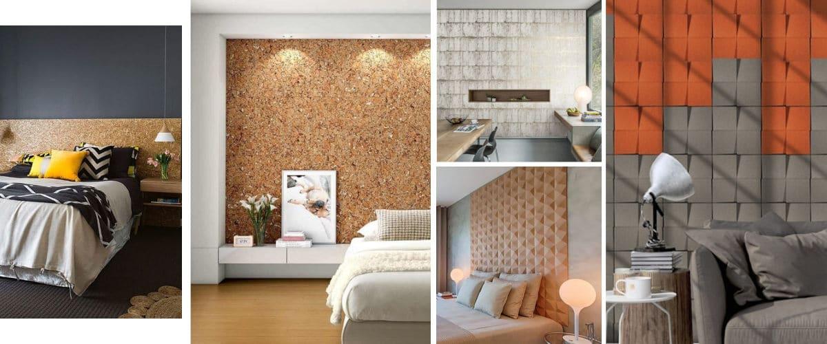 Los paneles de corcho son ideales para el dormitorio