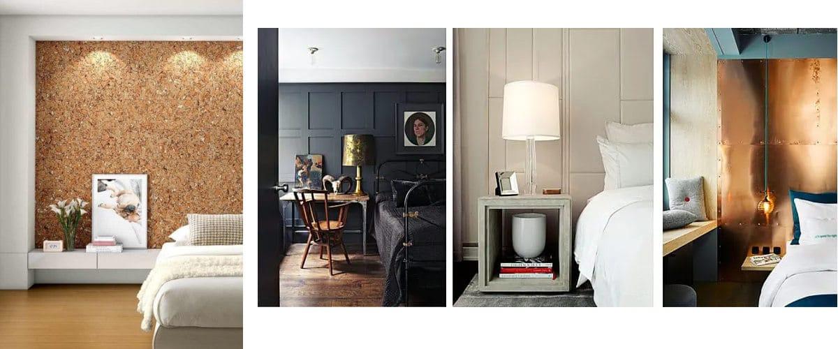 Es posible tener un dormitorio con paneles decorativos
