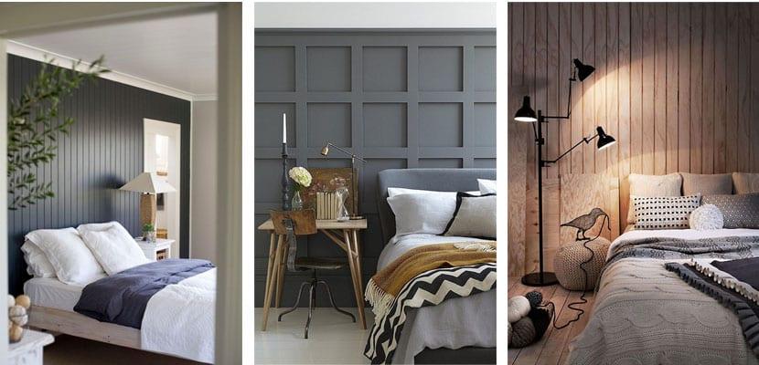 Paneles madera dormitorio