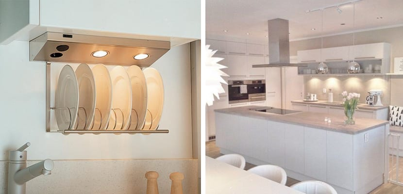 Puntos de luz en la cocina