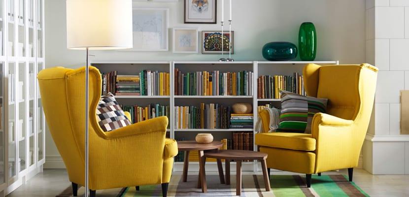 Sillones Coloridos.Decorar El Salon Con Sillones Coloridos De Ikea