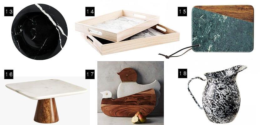18 objetos de m rmol para decorar tu hogar for Remates articulos de cocina