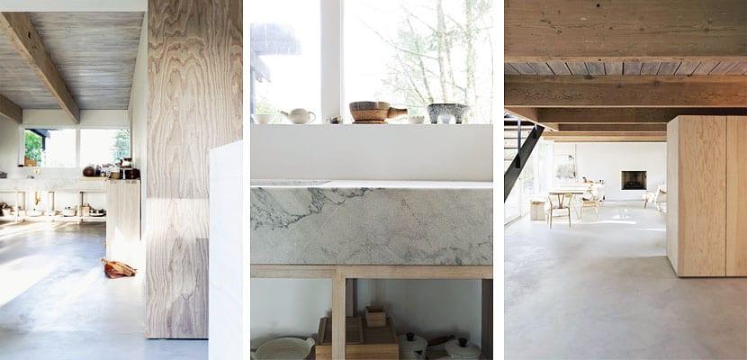 Casa rústica y moderna