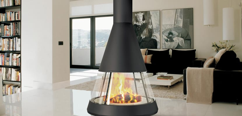 Ideas para decorar con chimeneas modernas