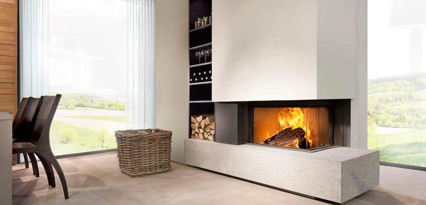 Ideas para decorar con chimeneas modernas - Chimeneas modernas decoracion ...