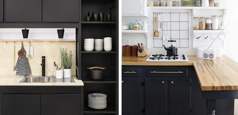 Decorar una cocina con tono negro mate for Muebles para una cocina