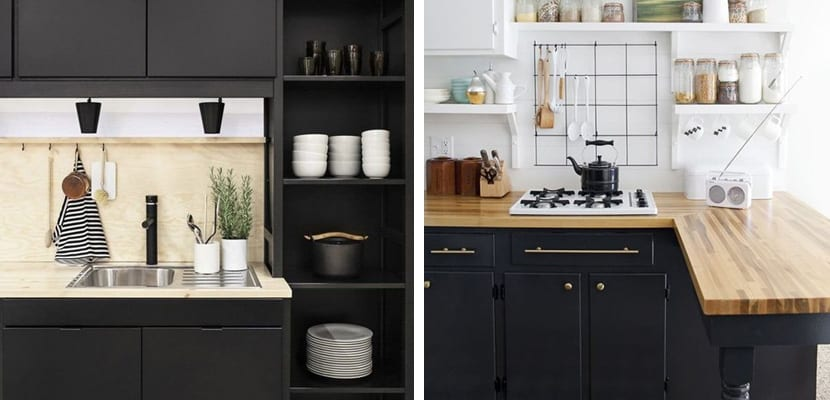 Muebles de cocina negro mate