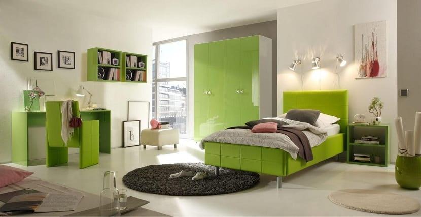 El color verde en la decoraci n de los dormitorios for Accesorio de dormitorio para adultos