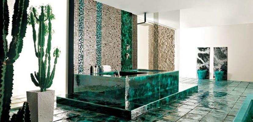 Decorar un baño con cactus