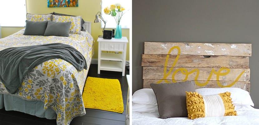 Dormitorio toques amarillos