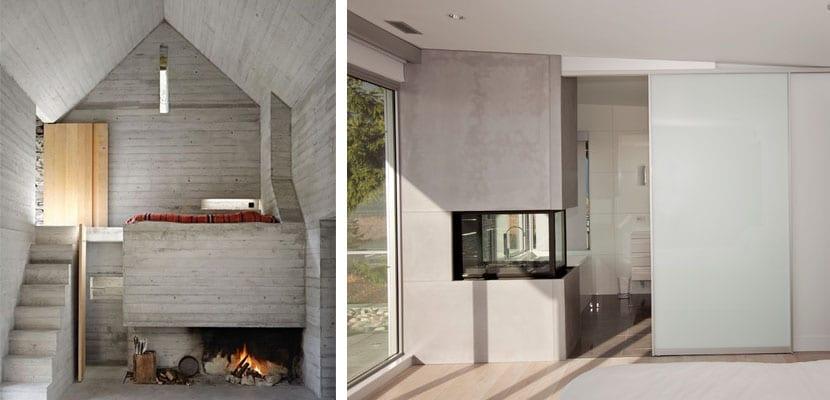Dormitorios con chimenea