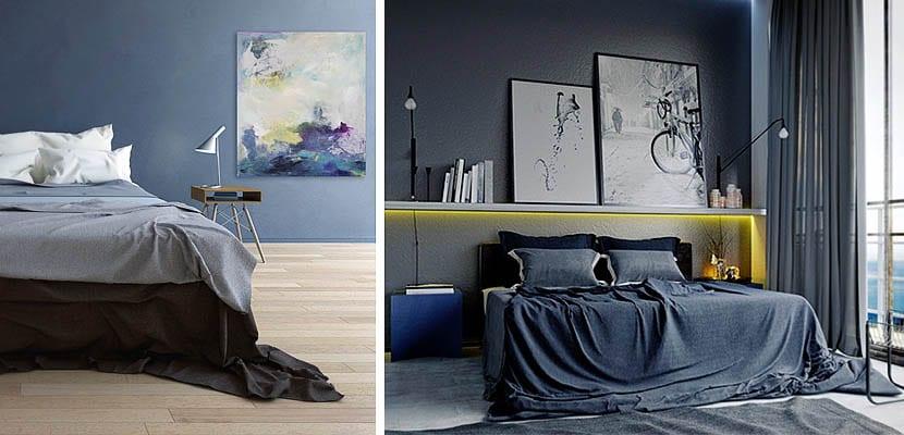 Dormitorios Masculinos Y Modernos En Tonos Azules