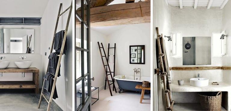 Incorpora una escalera a tu cuarto de baño   Decoora