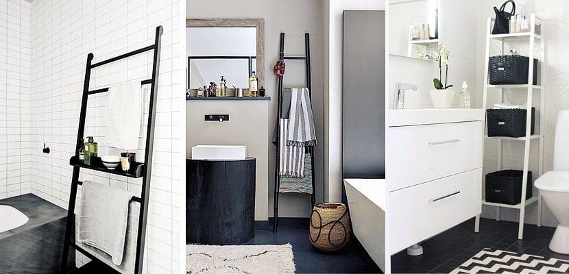Escaleras en el cuarto de baño