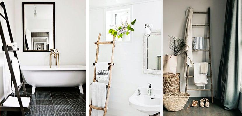 Incorpora una escalera a tu cuarto de baño