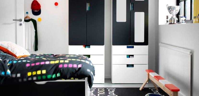 Habitación infantil deportiva tonos negros