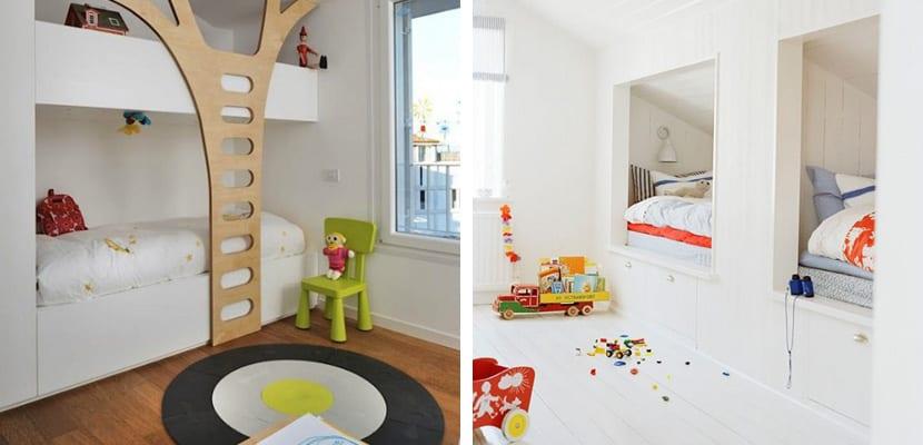 Literas infantiles para habitaciones compartidas - Escaleras para literas infantiles ...