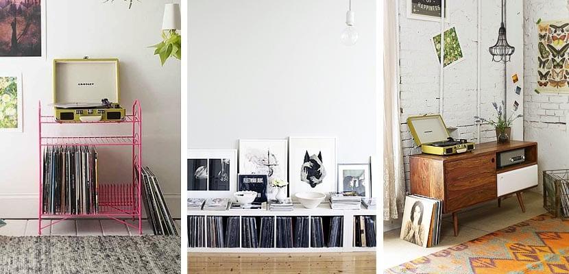 Muebles para organizar discos de vinilo