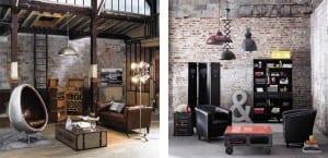 Salones de estilo industrial Maisons du Monde