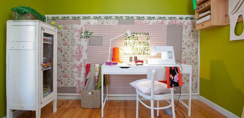 Taller de costura en espacios pequeños