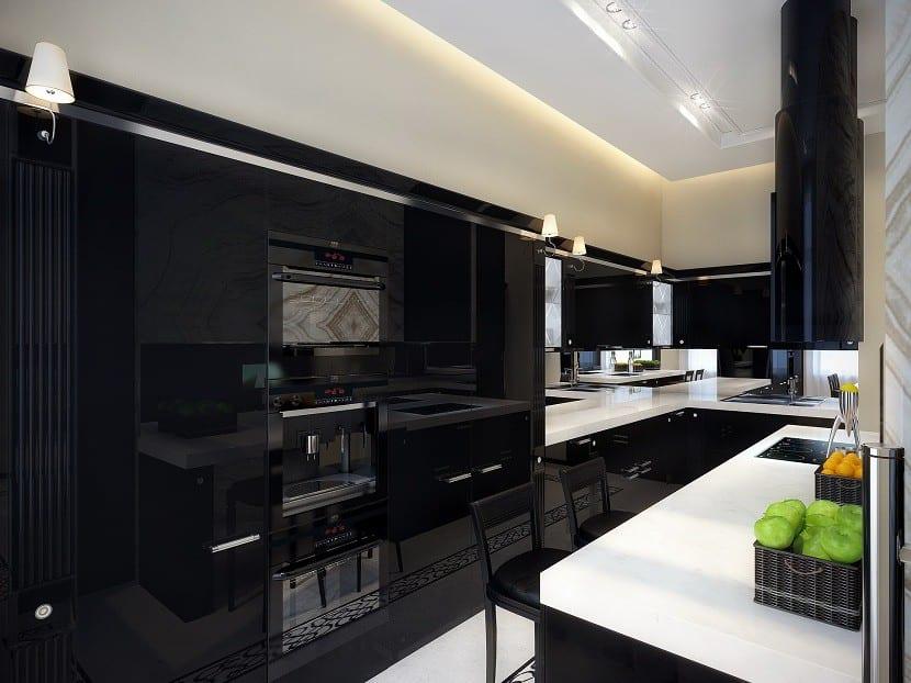 Diseño-de-cocina-blanco-y-negro