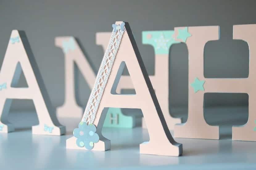 Letras madera decoradas 2