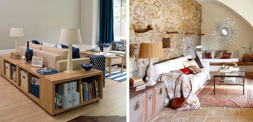 Almacenaje en el salón con muebles originales