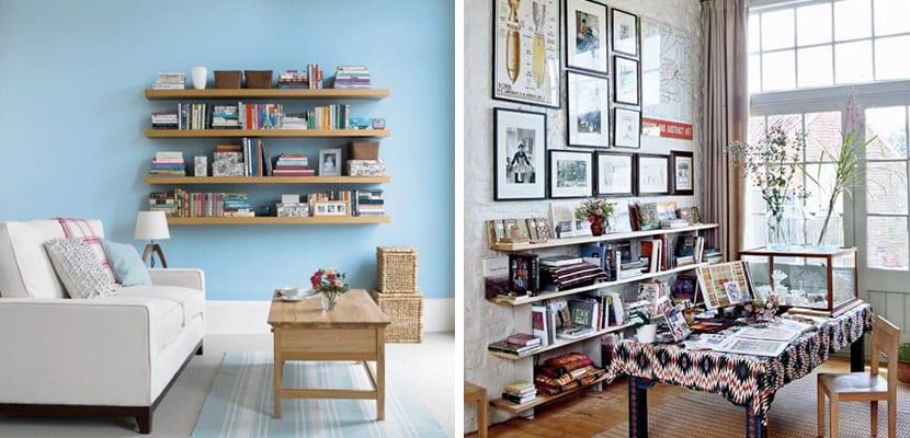 Muebles de almacenaje para el sal n for Fotos de librerias de salon