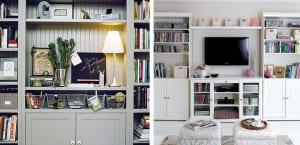 Almacenaje para el salón con muebles