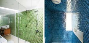 Azulejos de escama para el baño