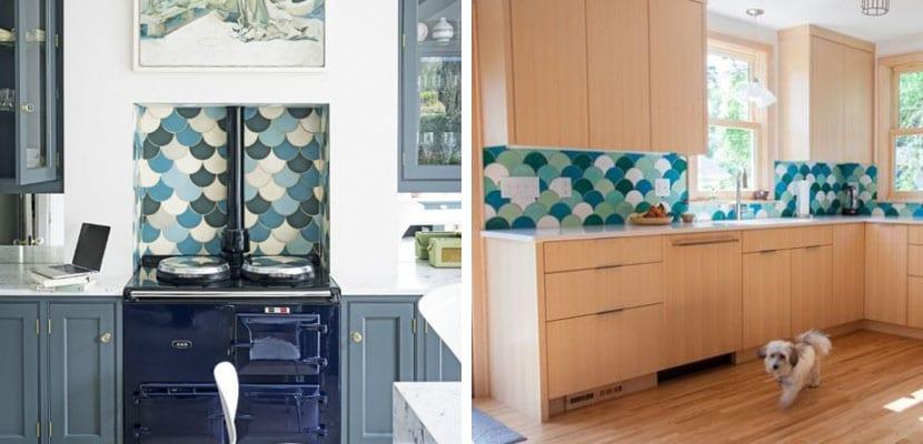 Azulejos de escama para la cocina