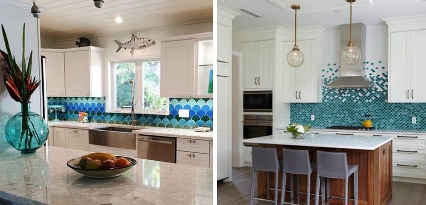 Decorar el hogar con escamas - Decoracion azulejos cocina ...
