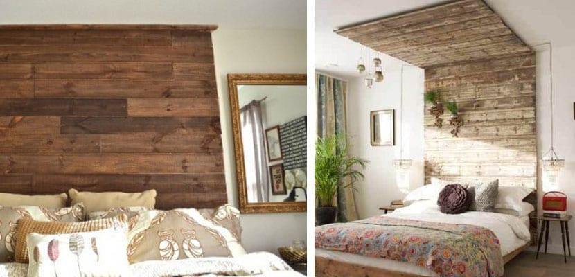 Cabeceros de madera DIY con tablas