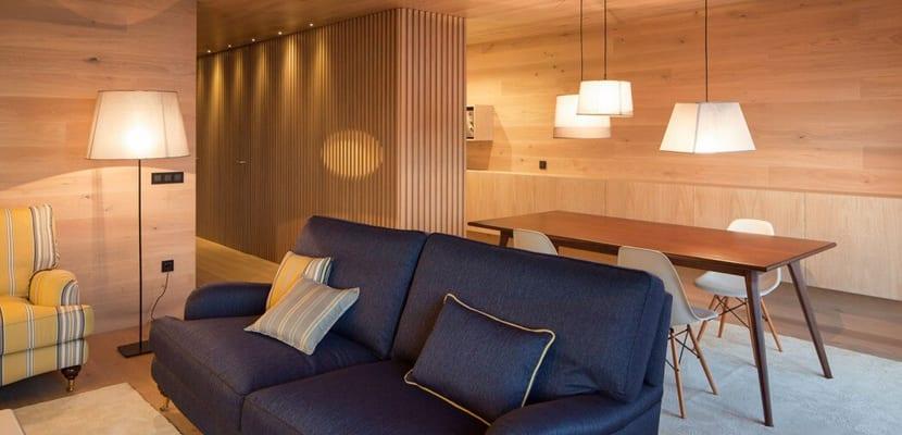 Zona de descanso en estilo minimalista