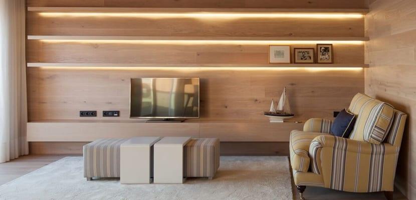 Zona de salón en estilo minimalista