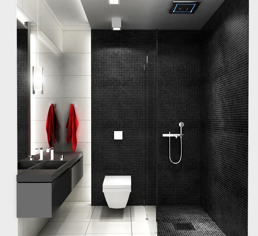 color negro baño