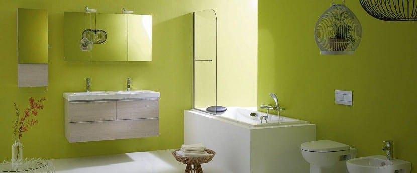 El color verde en la decoraci n del cuarto de ba o - Como alicatar un cuarto de bano ...